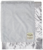 My Blankee Luxe Silver with Silver Flat Satin Border, Baby Blanket 80cm x 90cm