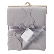 Living Textiles Jersey Pintuck Comforter, Grey/Grey Stripe