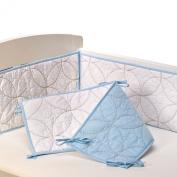 Living Textiles Cotton Poplin Bumper, White/Blue