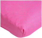 Caden Lane Pink Paisley Patch Crib Sheet