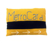Estella Nursery Decor Pillow, NY Metro Card