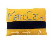 Estella Nursery Decor Pillow, NY Metro Card