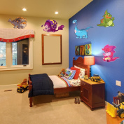 Style and Apply Colourful Baby Dino Wall Decal Set