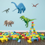 Style and Apply Colourful Dino Wall Decal Set