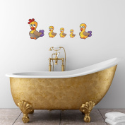 Style and Apply Colourful Duck Family Wall Decal Set