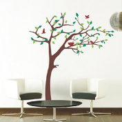 Pop Decors Removable Vinyl Art Wall Decals Mural, Nursery Tree