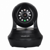 Mustcam H808P 720P HD Wi-Fi Wireless IP Camera (Black), Wireless Baby Monitor with Pan/Tilt, P2P, WPS, IR-Cut