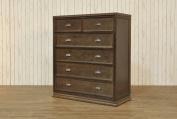 Franklin & Ben Mason 5-Drawer Tall Dresser, Rustic Brown