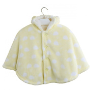 Avitalk Newborn Baby Infant Cashmere Baby Cape with Hooded Cloak Yellow 0-3 Years