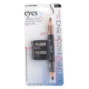 La Colours Dual Eyeliner/Eyeshadow Pencil w/ Sharpener Coffee BPN921