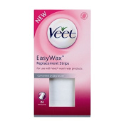 Veet Easy Wax Replacement Strips 24 Pack