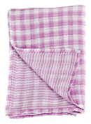 Lulujo Baby Reversible Muslin Cotton Swaddles Blanket, Passion Pink, 120cm x 120cm