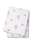 Lulujo Baby Muslin Cotton Swaddling Blanket, Hippo/Pink, 120cm x 120cm