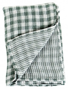 Lulujo Baby Reversible Muslin Cotton Swaddles Blanket, Warm Grey, 120cm x 120cm