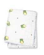 Lulujo Baby Muslin Cotton Swaddling Blanket, Owl Always Love You, 120cm x 120cm