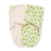 Summer Infant SwaddleMe Organic Adjustable Infant Wrap, 3.2-6.4kg, Small-Medium, Apple and Ivory