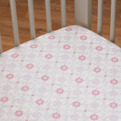 Living Textiles Violet Fitted Sheet