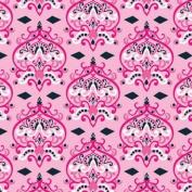 Caden Lane Luxe Collection Damask Single Sheet, Pink