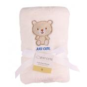 Avitalk Newborn Infant Bilayer Cartoon Baby Blanket with Plush Backing