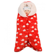 Aivitalk Newborn Infant Baby Wrap Swaddle Blanket Red 0-2 Years