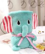 Lollipop Sweet Super Soft & Cute Coral Fleece Elephant Blanket for Baby or Office Use,80cm x 100cm