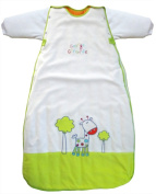 LIMITED OFFER! George Giraffe Baby Sleep sack Velour w Long Removable Sleeves 0-6Mths 3.5TOG