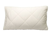 Toddler Pillow Case - Greenbuds Organic Toddler Pillow Cover. Organic Cotton/Wool Quilted Kids Pillow Cover Pillow Protector