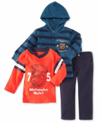Nannette Baby Boys' 3-piece Hoodie, Tee & Pants Set