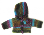 KSS Handmade Seashore Coloured Sweater/Cardigan Set 3 Months