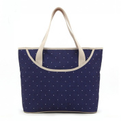 Luisvanita Mom, Stylish Nappy Bag, Navy Dots Tote