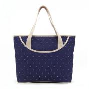 Luisvanita Mom, Stylish Nappy Bag, Navy Dots Tote