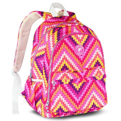 Landuo Women's Baby Nappy Backpack Guilted Nappy Bag Size M Pink