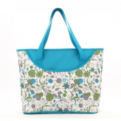 Luisvanita Mom, Stylish Nappy Bag, Blue Floral Tote