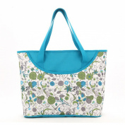 Luisvanita Mom, Stylish Nappy Bag, Blue Floral Tote