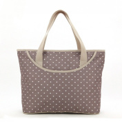 Luisvanita Mom, Stylish Nappy Bag, Beige Dots Tote
