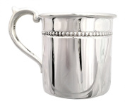 """Cunill 100ml """"Pearls"""" Baby Cup, 5.4cm , Sterling Silver"""