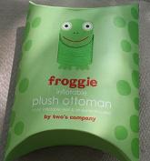 Froggie Inflatable Plush Ottoman