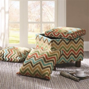 """Madison Park Shelley Square Storage Ottoman With Pillows - Multi - 18W x 18D x 18H"""""""