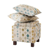 Madison Park Shelley Square Storage Ottoman With Pillows - Sand - 18W x 18D x 18H""