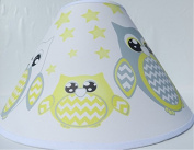 Yellow Owl Lamp Shade / Children's Yellow Owl Nursery Room Decor