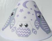 Purple Owl Lamp Shade / Children's Purple Owl Nursery Room Decor