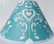 Aqua Damask Lamp Shade / Childrens Lampshade Nursery Decor