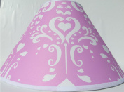 Pink Damask Lamp Shade / Childrens Lampshade Nursery Decor