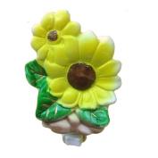A.Shine Yellow Sunflower Ceramic NightLight Night Light for Christmas Day