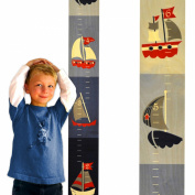 Nautical Wooden Growth Chart for Kids | Sailboats