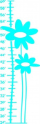 Top Selling Decals - Prices Reduced : Blue Flower Growth Chart Picture Art - Kids Bed Room - Peel & Stick Sticker -...