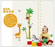 Monkey Panda Giraffe Coconut Tree Growth Chart Height Chart Wall Decor Wall Sticker Wall Decal for Kids Children Room