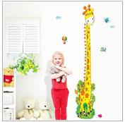 Lovely Giraffe Growth Chart Removable Nursery Wall Decal Sticker Decor for Children