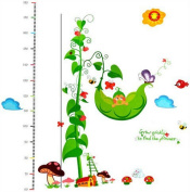 Removable Peas Growth Chart Nursery Wall Decal Sticker Mural Decor for Children