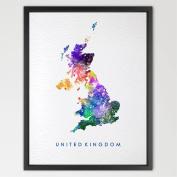 8X10 United Kingdom Map UK Map Watercolour Art Print Wall Art Hanging Home Decor Nursery decor Kids Art Fine Art Print Motivational art N220